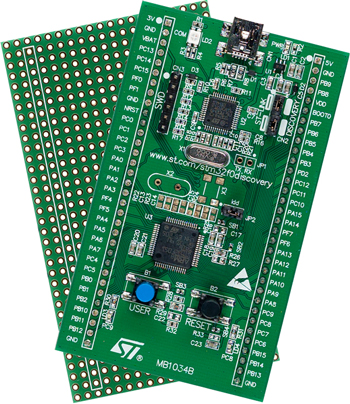 The STM32F0Discovery board