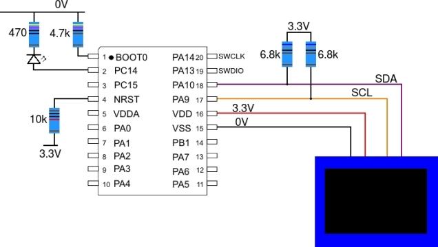 stm32l031_ssd1306_circuit