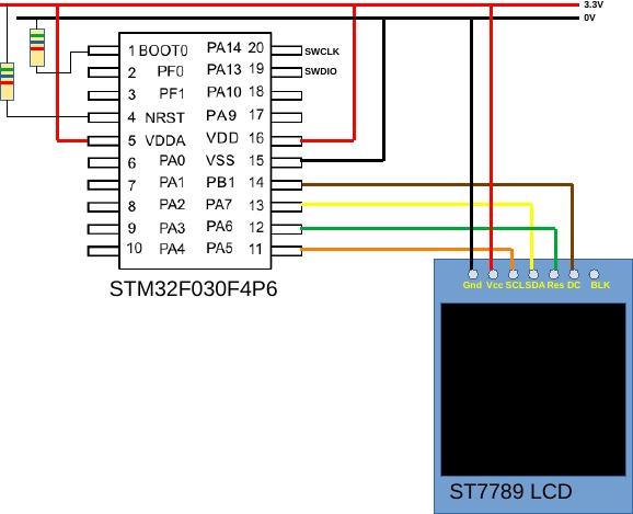 stm32f030_st7789_schematic