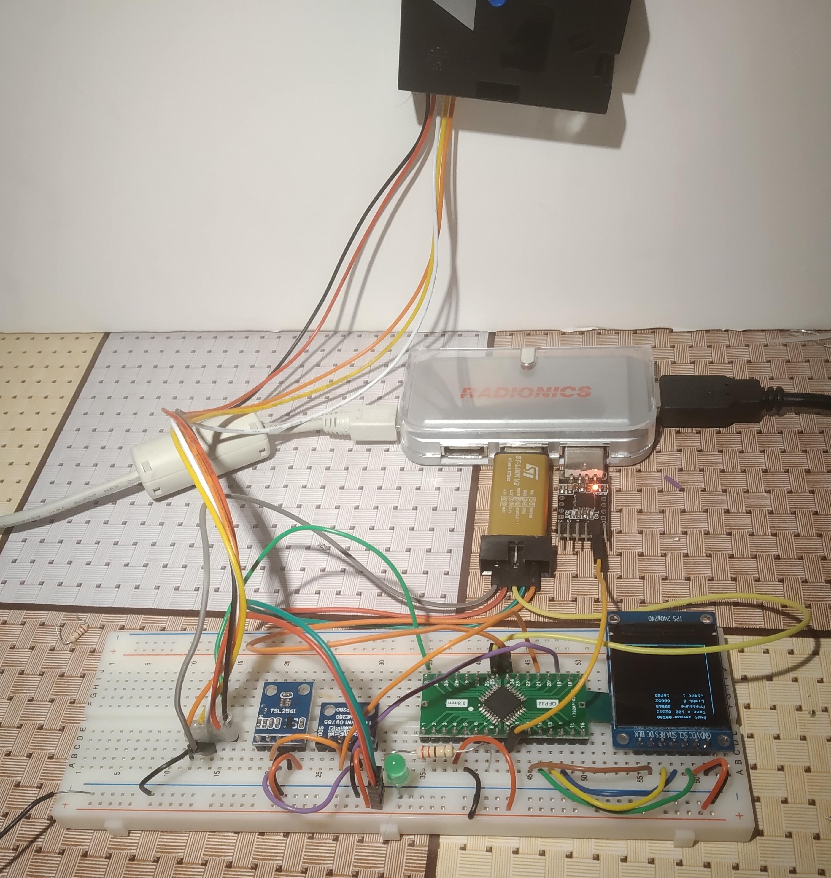 stm32g071_environment_assembled_board